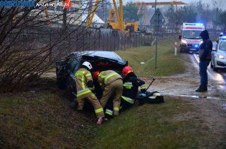 Zderzenie samochodów w Parcelach Łomskich [zobacz foto i video]