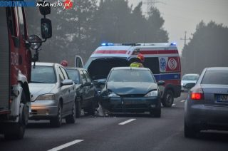 Zderzenie czterech aut na Marszałkowskiej