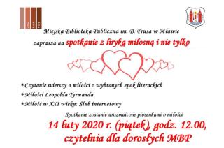 Liryka miłosna na Walentynki
