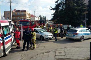 Wypadek na skrzyżowaniu Kościuszki i Słowackiego [zobacz fot.]
