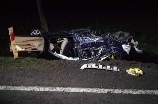 Tragiczny wypadek pod Przasnyszem! Jedna osoba nie żyje, trzy są ranne