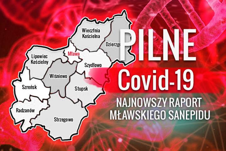 Trzy kolejne potwierdzone przypadki zakażenia koronawirusem. Raport mławskiego sanepidu z dnia 8 sierpnia