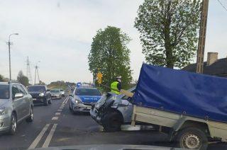 Wypadek na Warszawskiej. Ruch wahadłowy