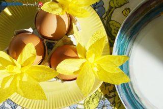 Żonkilowe podstawki do jajek. Prosta i efektowna dekoracja wielkanocnego stołu
