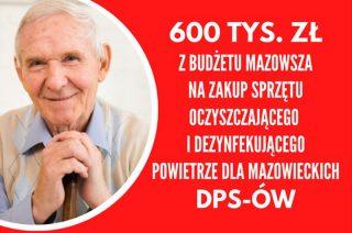 Zarząd województwa chce kupić sprzęt do dezynfekcji dla DPS-ów