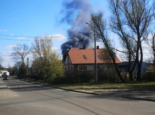 Pożar na ulicy Batalionów Chłopskich [zobacz foto i film]
