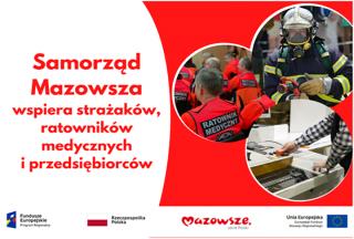 Personel medyczny, strażacy i przedsiębiorcy ze wsparciem samorządu Mazowsza