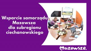 Kolejne wsparcie samorządu Mazowsza dla subregionu ciechanowskiego