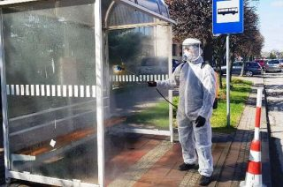 Chorzele rozpoczęły dezynfekcję miasta