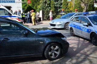"""Zderzenie dwóch """"osobówek"""" na ul. Warszawskiej [zobacz foto]"""