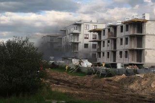 Policja zatrzymała podejrzanego o podpalenie na placu budowy