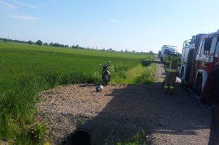 Wypadek motorowerzysty w Rzęgnowie [fot.]