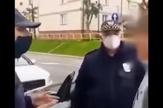 Mandat 500 zł w ostatnim dniu obowiązywania nakazu zakrywania nosa i ust [film]