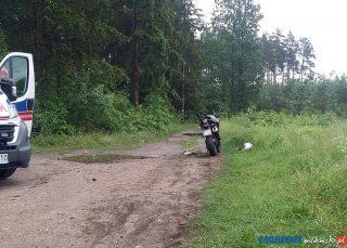 Wypadek motocyklisty na ulicy Krajewo
