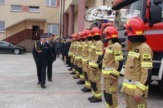 Nowy Mazowiecki Komendant Wojewódzki Państwowej Straży Pożarnej zwizytował jednostki w Mławie i Stupsku