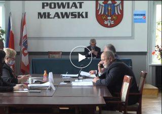 Transmisja z XVI sesja Rady Powiatu Mławskiego