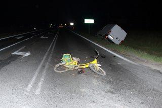 Wypadek w Strzegowie, ranny rowerzysta