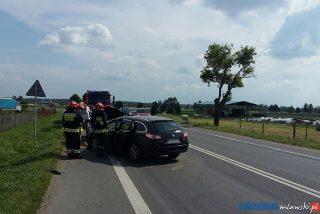 AKTUALIZACJA: Wypadek na siódemce w Mdzewie. Są poszkodowani