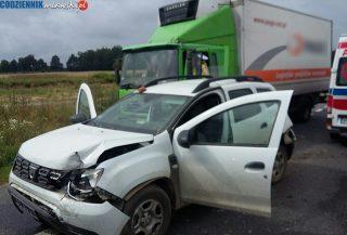 Wypadek na krajowej siódemce. Zderzyły się 4 samochody [foto]
