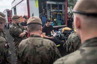 Strażacy z Ciechanowa szkolili żołnierzy WOT