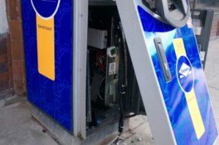 Bankomat przy handlowcu wysadzono. Są wstępne ustalenia policji
