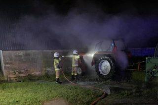Miączyn Duży. W nocy spłonął traktor