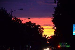 Przepiękny zachód słońca nad Mławą