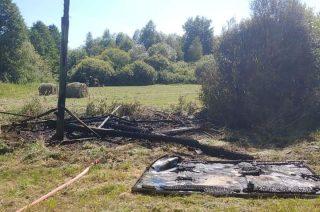 Podpalenie ambony w Bońkowie Podleśnym