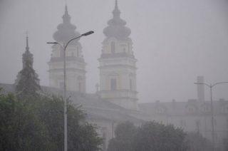 Silne opady deszczu nad naszym powiatem