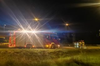 Nocny pożar samochodu na Gdyńskiej