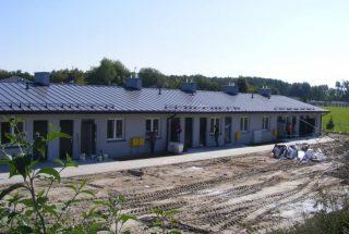 Nowy budynek socjalny – prace na ukończeniu