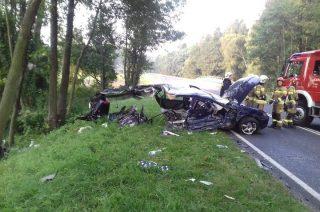 Wypadek pod Konopkami. DW 615 zablokowana [fot.]