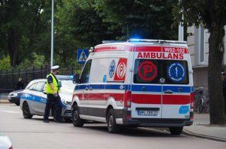 Wypadek na ul. Żeromskiego – motorowerzysta potrącił pieszą [fot.]