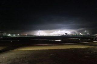 """Październikowa """"mgła"""" nad stadionem"""