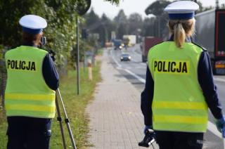 Policyjny film z działań na drodze krajowej nr 7 w powiecie mławskim