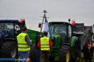 Rolnicy jadą w stronę Mławy [zobacz foto i film]