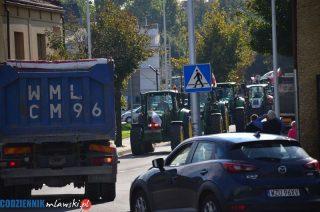 Rolnicy z gminy Stupsk protestowali w Mławie [zobacz film]