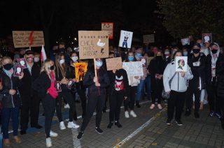 Uliczny protest po raz drugi na ulicach Mławy [fot. film]