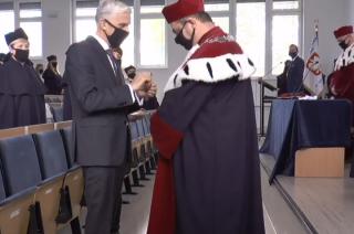 Prof. Leszek Zygner odznaczony Srebrnym Krzyżem Zasługi