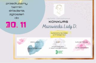 Konkurs Mazowiecka Lady D. 2020 – zgłoszenia do 30 listopada