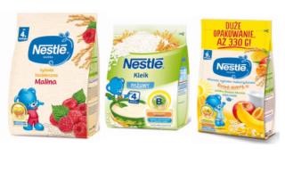 W partii kaszek Nestle stwierdzono nadmiar kadmu. Są wycofane z obrotu