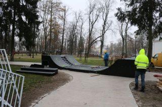 Przebudowa skateparku na ukończeniu