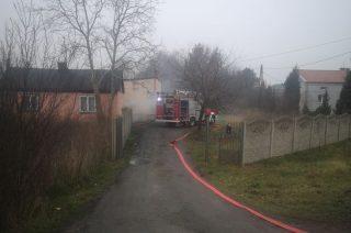 Pożar w budynku na Batorego [foto i film]