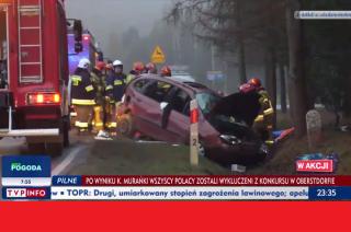 Wypadek pod Konopkami w TVP