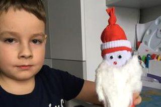 Mikołaje wykonane przez klasę 1a