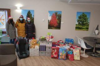 Zawieźli świąteczne paczki do ośrodka w Kraszewie-Czubakach