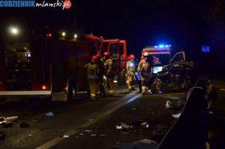 """Poważny wypadek na """"siódemce"""" koło Marszałkowskiej. Są ranni [fot]"""