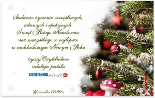 Serdeczne życzenia szczęśliwych i zdrowych Świąt