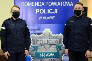Dwóch nowych policjantów w mławskiej komendzie