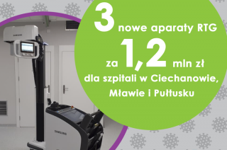 Mobilny aparat RTG m.in. dla szpitala w Mławie